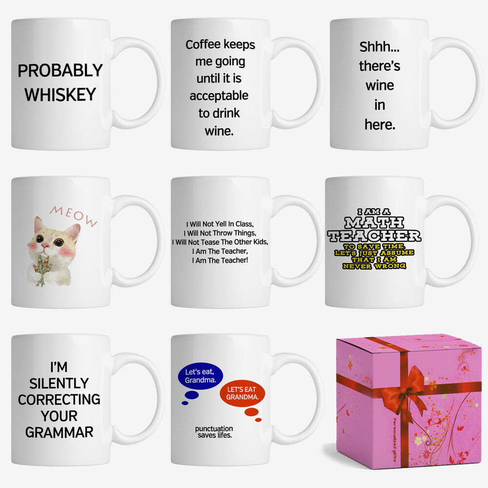 Details About Funny Gag Coffee Mug Kitchen Tea Cup Birthday Gift For Teacher Friend Classmate
