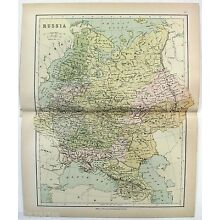 Original Map of Russia by Wm. Collins Sons & Co. c1875