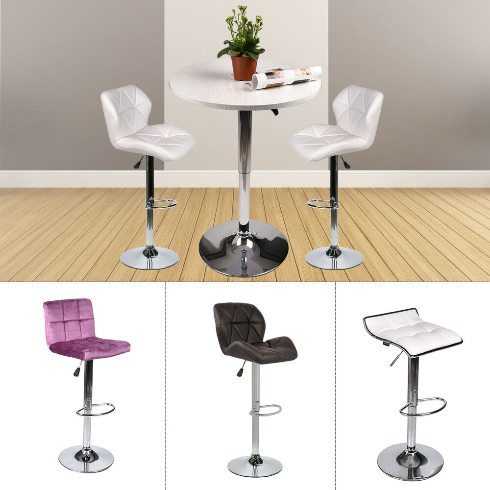 3 Piece Dining Set Bar Stools Pub Table Breakfast Chairs: 3-Piece Pub Table Set Bar Stools Adjustable Dining Chair