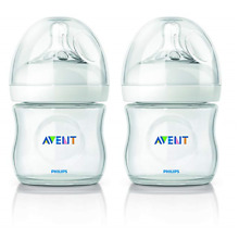 Philips AVENT BPA Free Natural Polypropylene Bottle, 4  (2 Pack)