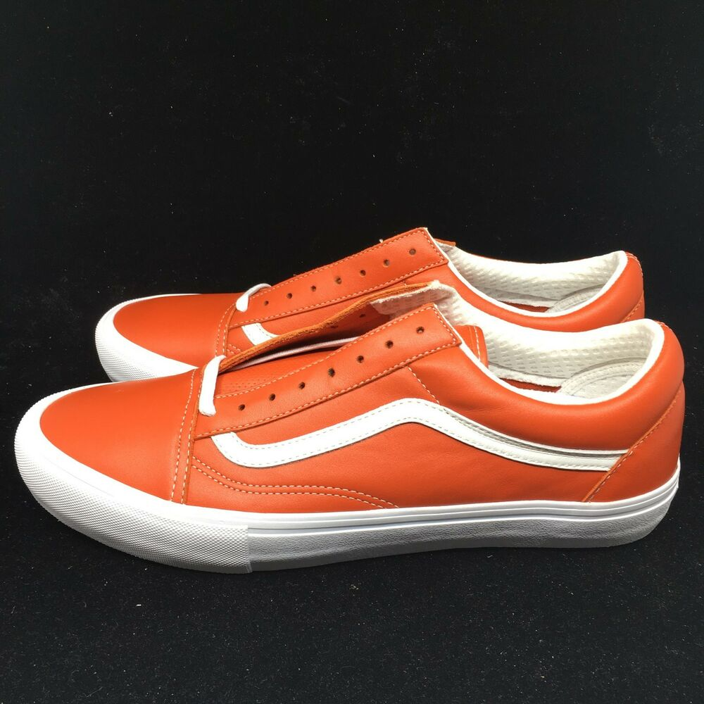 Vans Vault Old Skool VLT LX Italian Leather Mens Orange Mango VN0A3MUWR2V  NIB  d9f92b11e