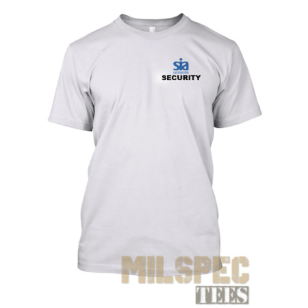 img-Security SIA T Shirt Moisture Wicking Performance - White