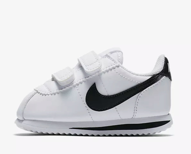 1fca142a8a88b8 Details about New Nike Baby Cortez Basic SL Toddlers Shoes (904769-102)  White  Black