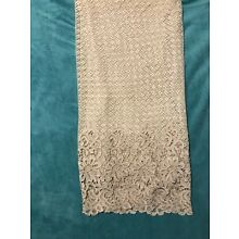 ANTIQUE BELGIAN/GERMAN LACE DRAPERIES--GIFT FROM A US WW II SOLDIER