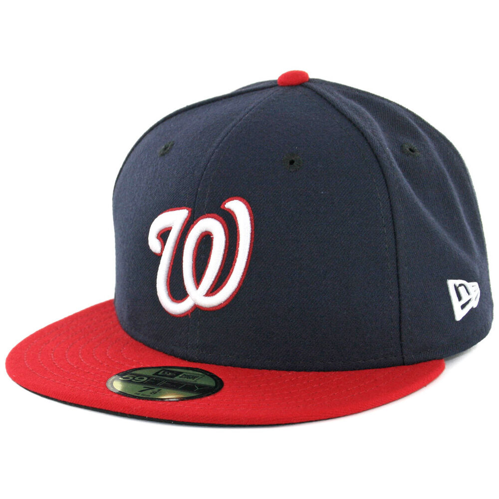 30a138fe Details about New Era Washington Nationals ALT 59Fifty Fitted Hat (Dark  Navy/Red) MLB Cap
