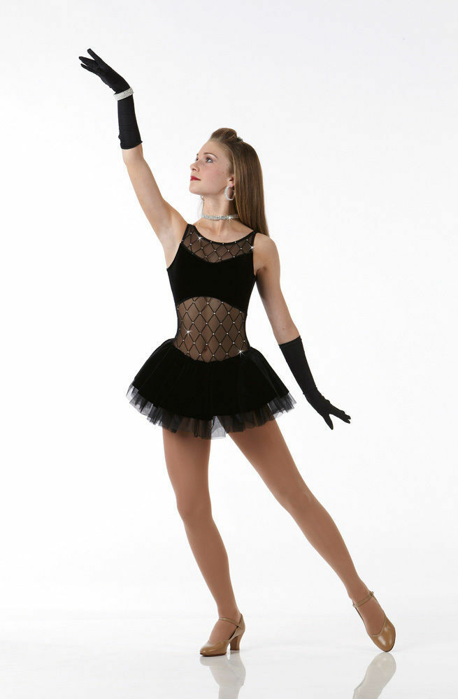 A Girls Best Friend Dance Costume Tap Dress With Gloves Clearance
