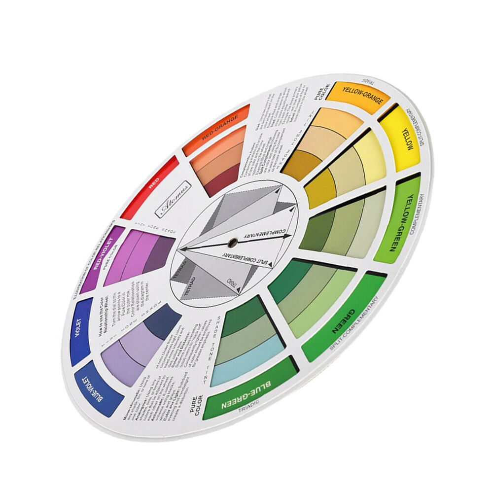 Details About New Color Blending Guide Wheel Magic Palette Colors Matching Mixing Chart