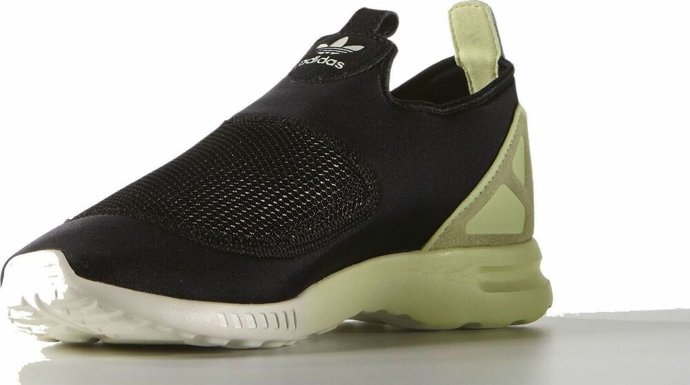 newest collection 0e983 aa8de Details about Adidas Womens ladies Trainers Slip on Zx Flux Adv Smooth Core  Black Halo S75739