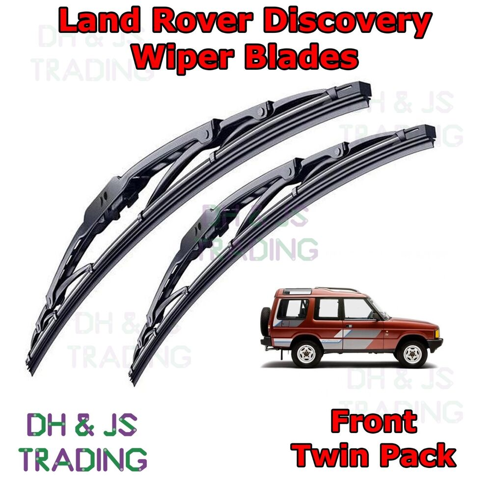 Details about 89 98 land rover discovery front wiper blades windscreen 2x 18 hook type wipe