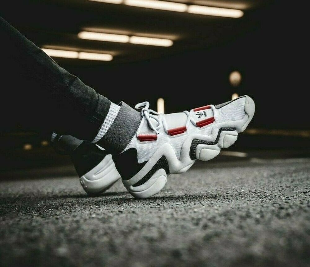 super popular 8d2c5 18b20 AC7737 Mens Adidas Crazy 8 AD - White Red Black  eBay