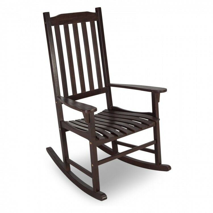 Details About Wooden Rocking Chair Outdoor Indoor Porch Living Room Baby Nursery Wood Rocker