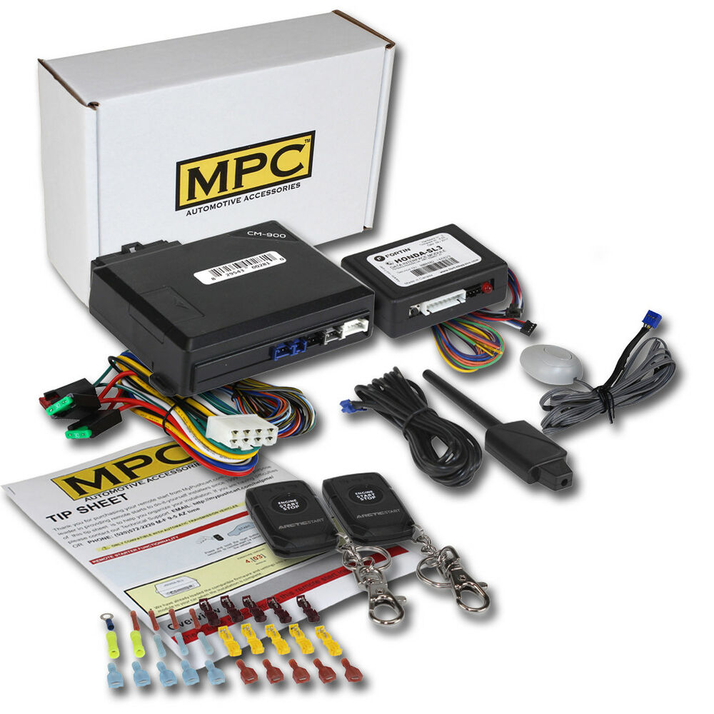 Complete 1-Button Remote Start Keyless Entry Kit For 2001