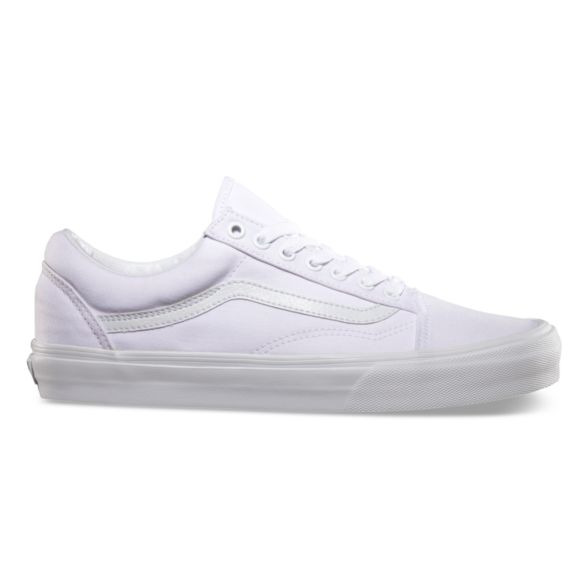 942c695b6e Details about New Men and Women Vans Old Skool True White Skateboarding  Shoes Classic Canvas