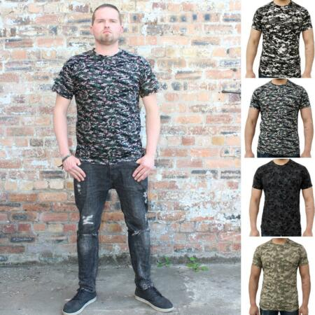 img-Mens Game Camouflage T Shirt Military Digital Camo Army Top GMT18