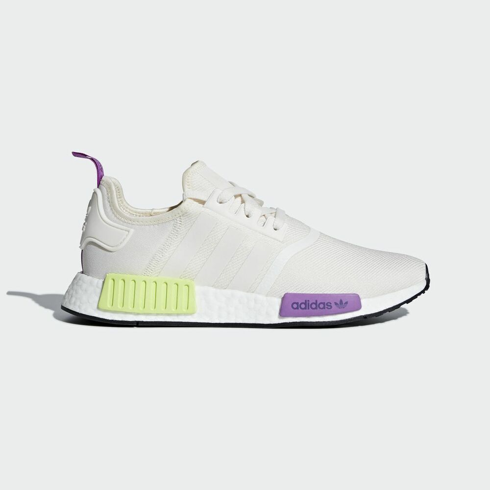 410170028b957 Details about New Adidas Men s Originals NMD R1 Shoes (D96626) Chalk  White  Semi Solar Yellow