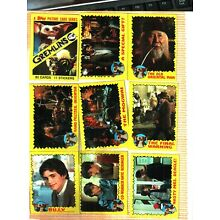 1984 Topps GREMLINS trading card & sticker set (82/11) EXCELLENT TO NEAR MINT