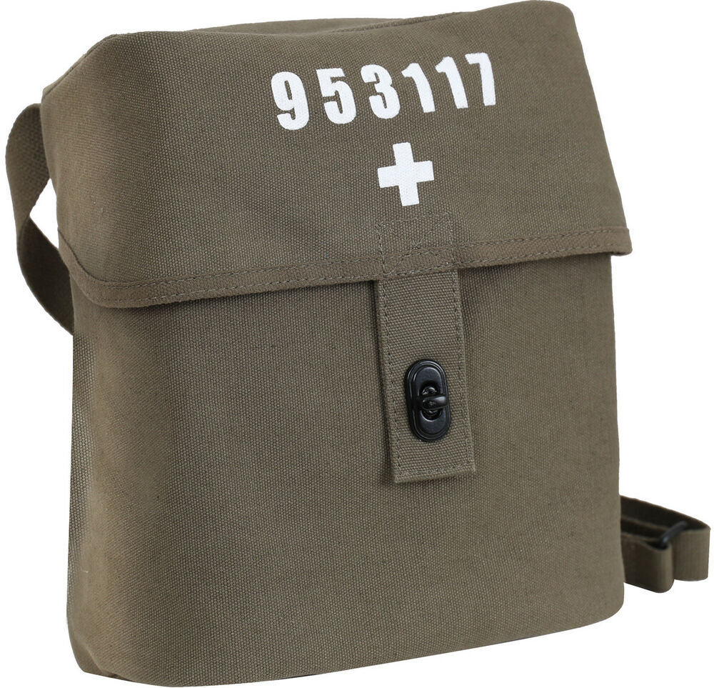 Olive Drab Swiss Military Canvas Shoulder Bag White Cross Large Carry Pouch  613902081116  e45afea0ab1