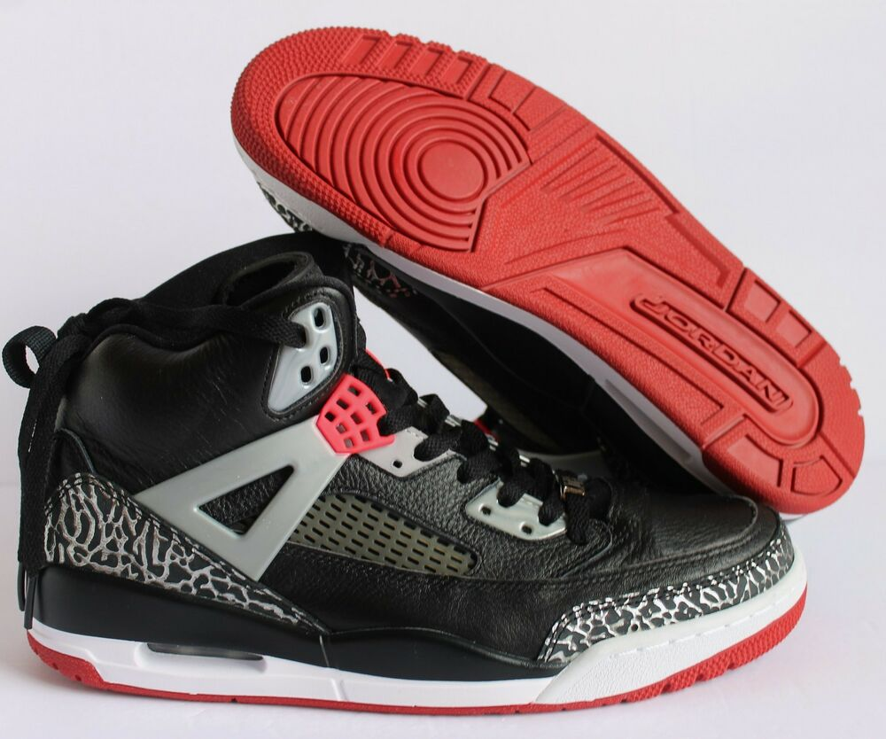 premium selection 66724 ac712 Details about NIKE AIR JORDAN SPIZIKE iD BLACK-GREY-SILVER SZ 10.5  605236  996