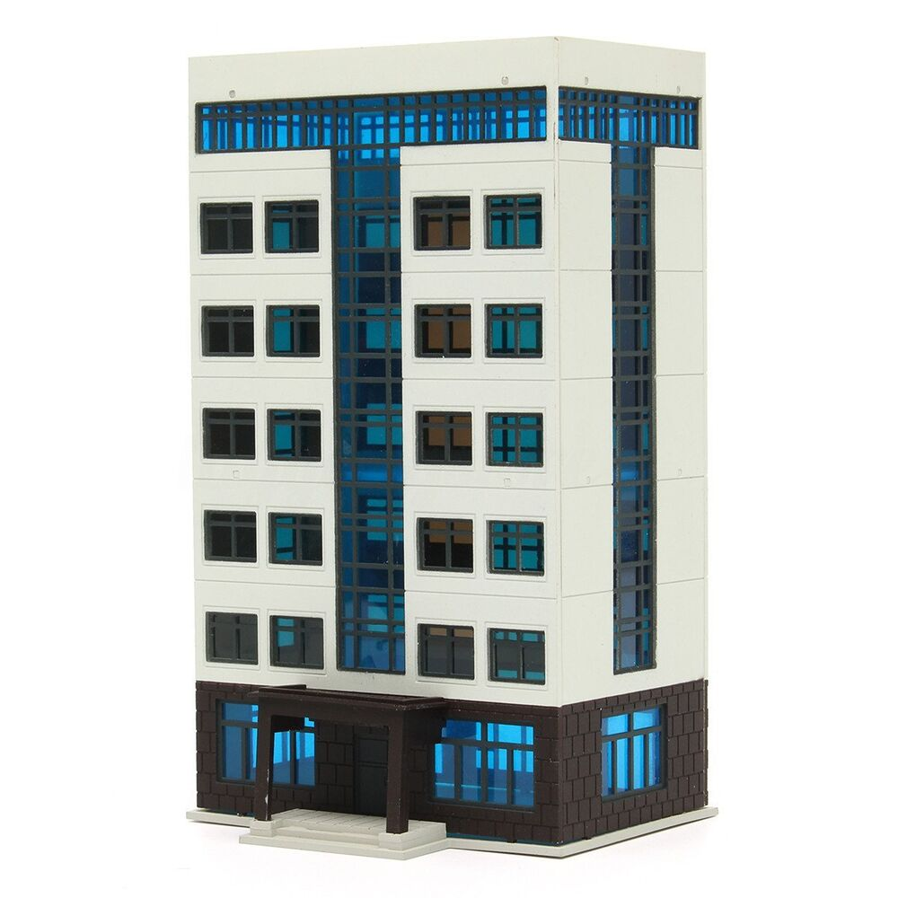 Apartment Building: N Scale 1/144 Apartment Building Model City Street