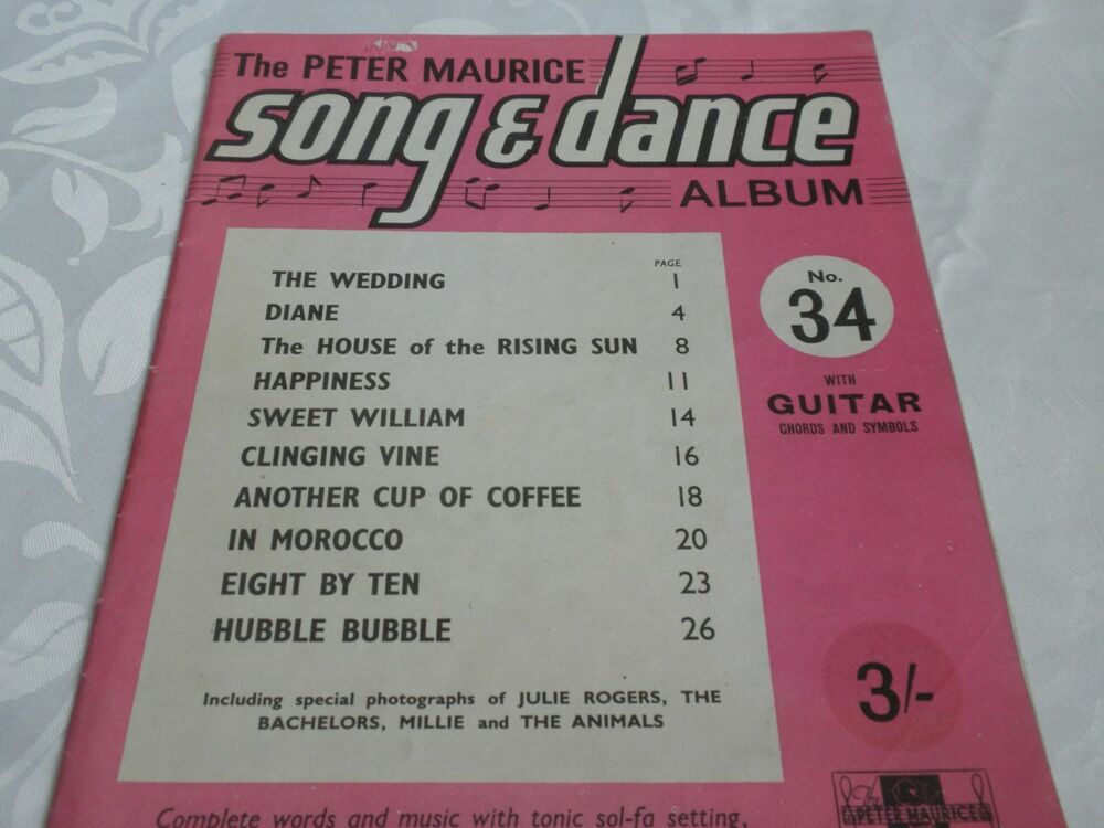 THE PETER MAURICE SONG & DANCE MUSIC BOOK NO.34 WITH GUITAR CHORDS ...