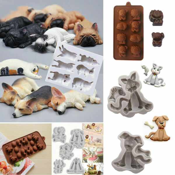 3D Animal Models Silicone Fondant Chocolate Cake Mold Baking Sugarcraft Mould