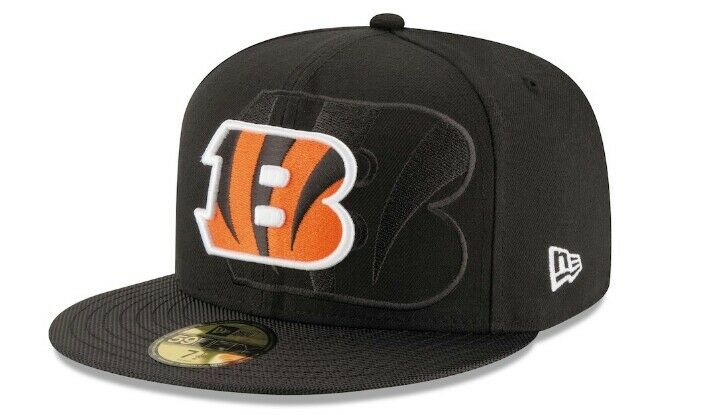 Details about Cincinnati Bengals New Era NFL Sideline 59Fifty Fitted Hat Cap!  Size 7 1 8! 34c0767e6