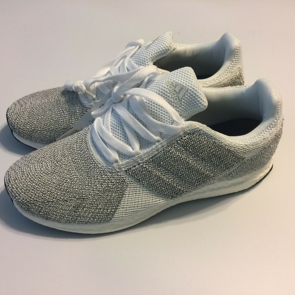 newest collection be752 bcc0b Details about Adidas Mens 9.5 Ultra Boost energy continental 3 M Running  Shoes White Silver