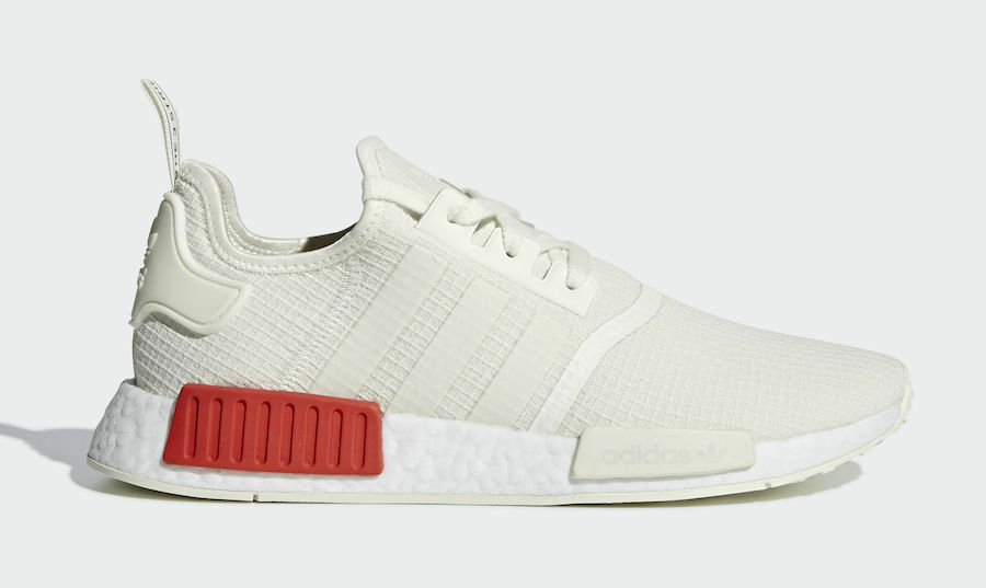 bedd5751848af ... best price new adidas mens originals nmd r1 shoes b37619 off white off white  lush red