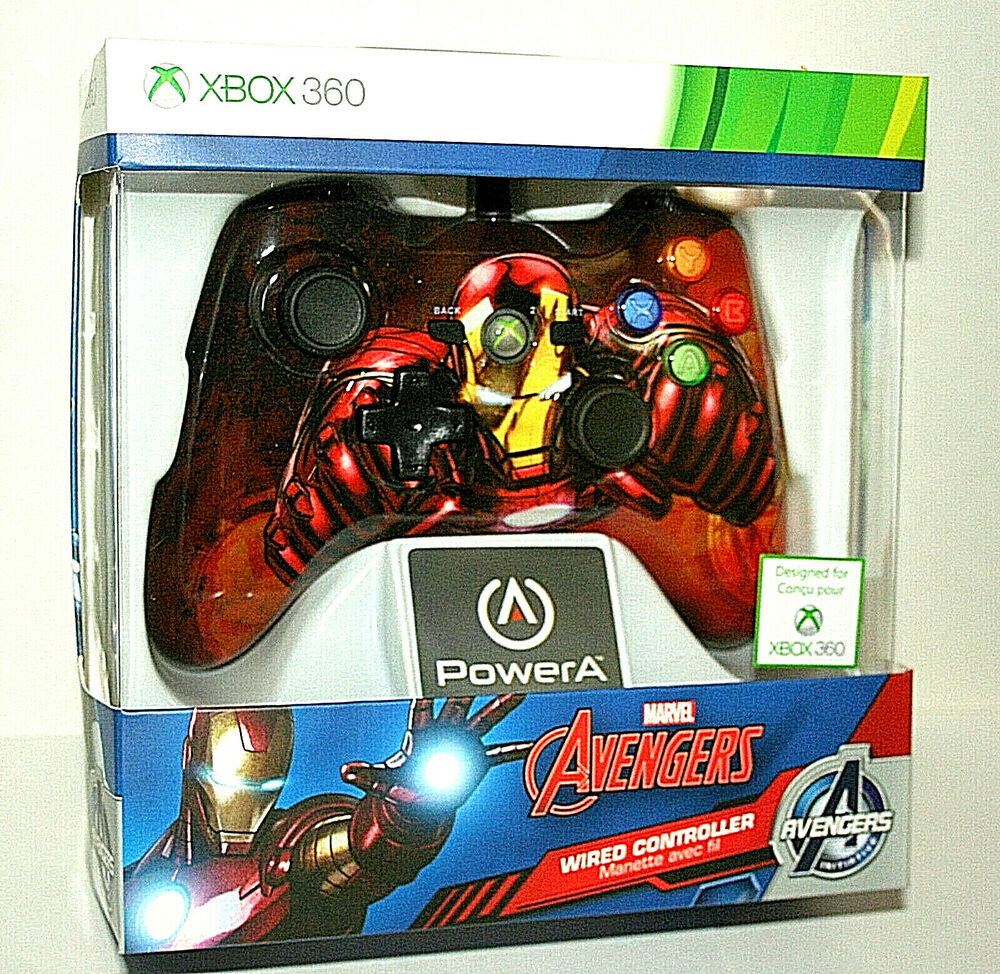 Powera Marvel Avengers Wired Game Controller Designed For X Box 360 Mouse Iron Man Wireless New 2015 Mip 617885010545 Ebay