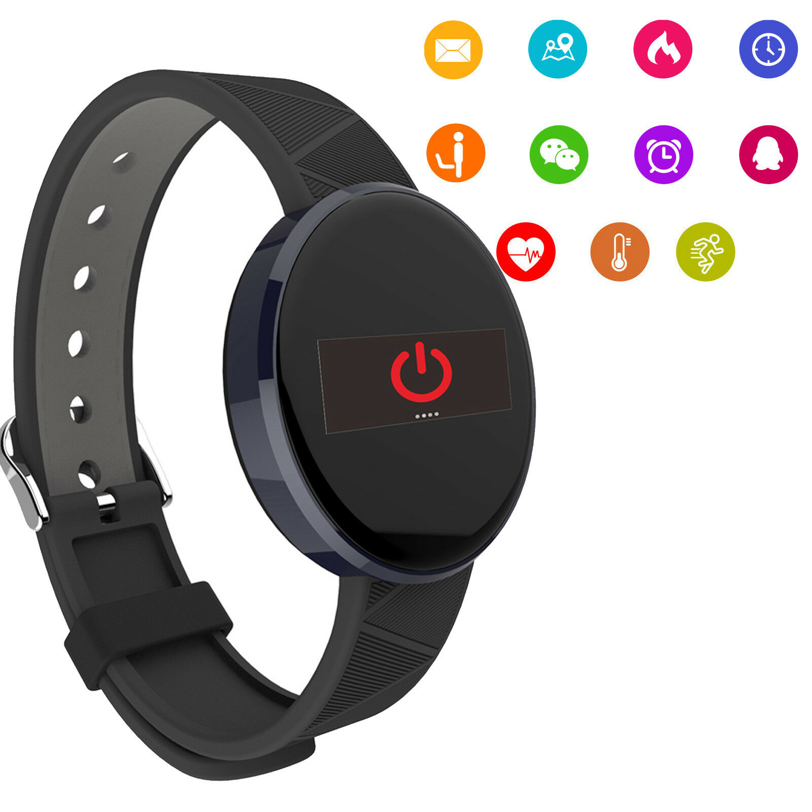 UPC 216752999572 product image for Heart Rate Smart Watch Bluetooth Wrist Band For Huawei P10 P10 Lite P9 Lg K8 K10 | upcitemdb.com