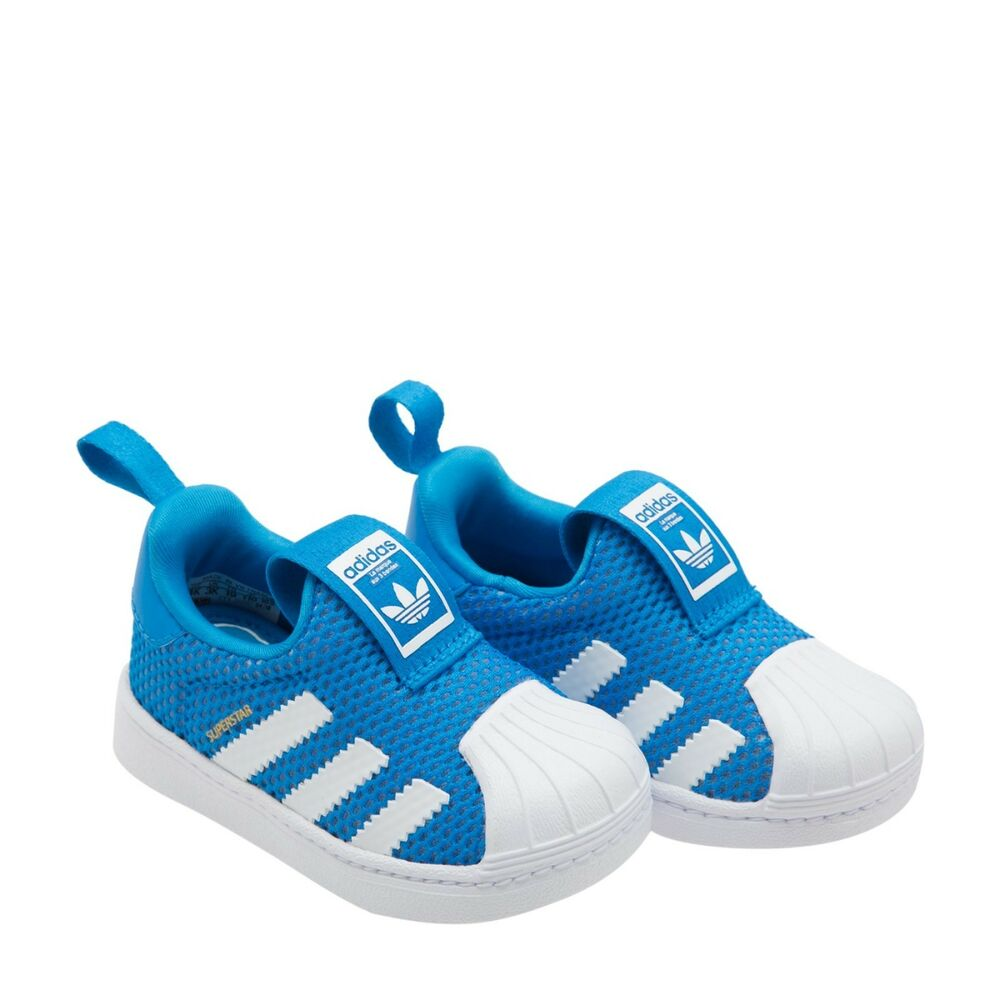 7ea90d034b20 Details about Adidas B37252 toddler Superstar 360 I baby shoes kids WHITE    BLUE