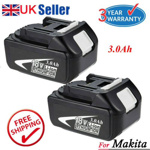 2 X New 4.0Ah 18V Lithium Ion Battery For Makita BL1860 BL1840 BL1830 BL1815 LXT