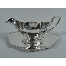 Gorham Plymouth Sauce Boat on Stand -  A2780 A2803 - American Sterling Silver