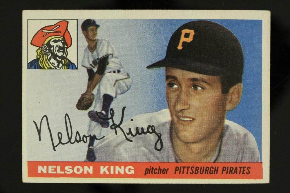 Vintage Baseball Card Topps 1955 112 Nelson King Pitcher Pittsburgh Pirates Ebay