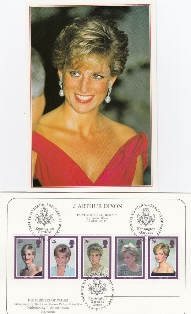17122 Gb Postcard Fdc Princess Diana Death Kensington Gardens 3