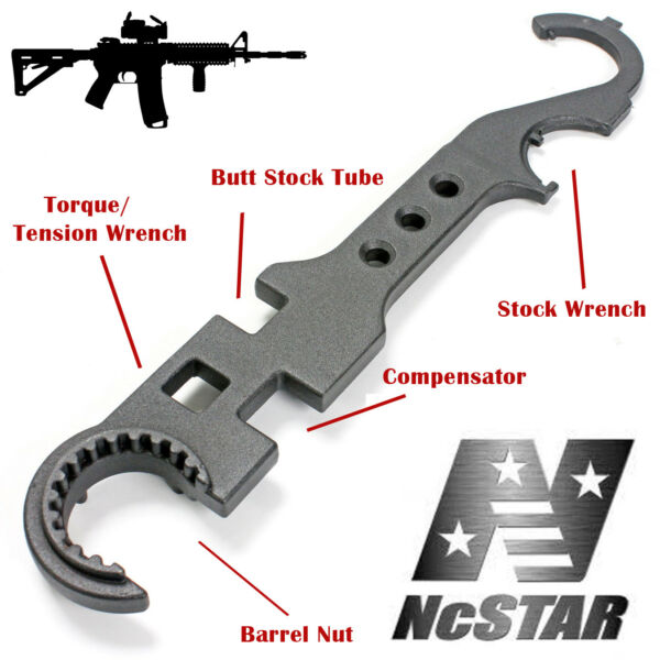 NcSTAR Barrel Wrench Armorer Steel Combo Rifle Multi Tool TARW 5.56 .223