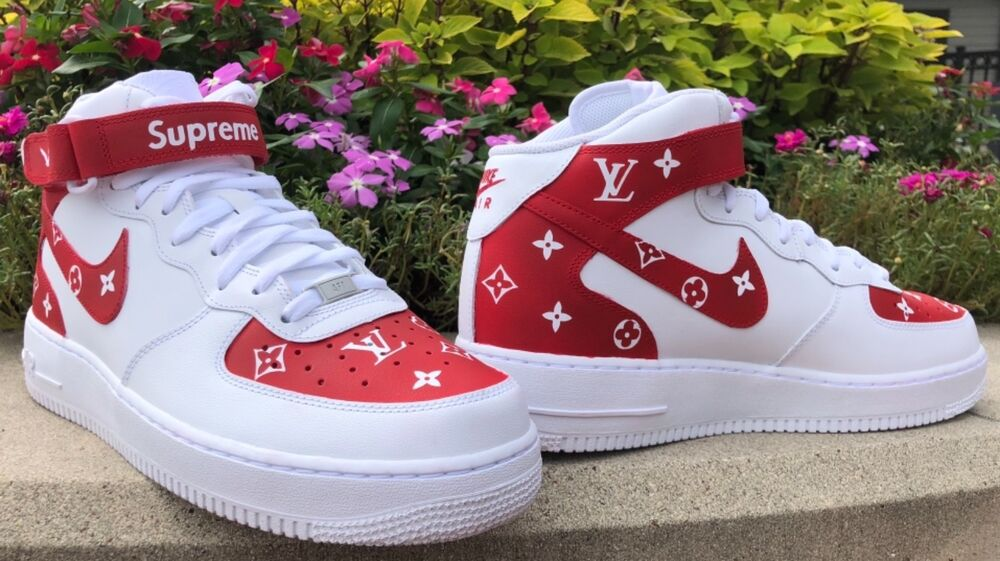 sneakers for cheap 12235 c456b Details about Custom Air Force 1 Mid