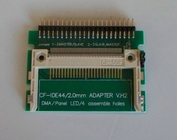 44 Pin CF V.H2 Adapter ideal for Amiga A600 A1200 or Laptop