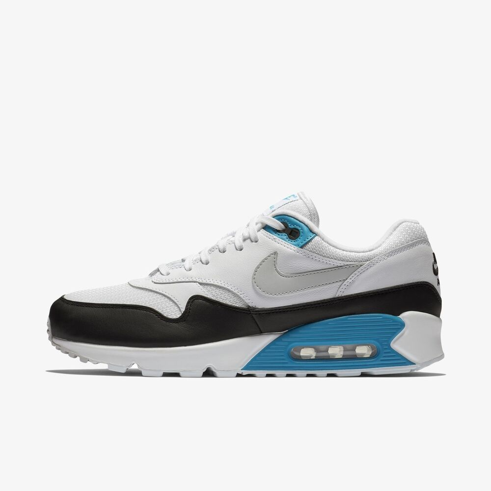 save off b2e25 69b83 Details about New Nike Men s Air Max 90 1 Shoes (AJ7695-104) White Black-Laser  Blue-N Grey