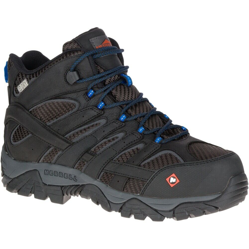 91ed0505ad42 Details about Merrell Men Moab 2 Vent Mid Waterproof Comp Toe Work Boot  Wide Width
