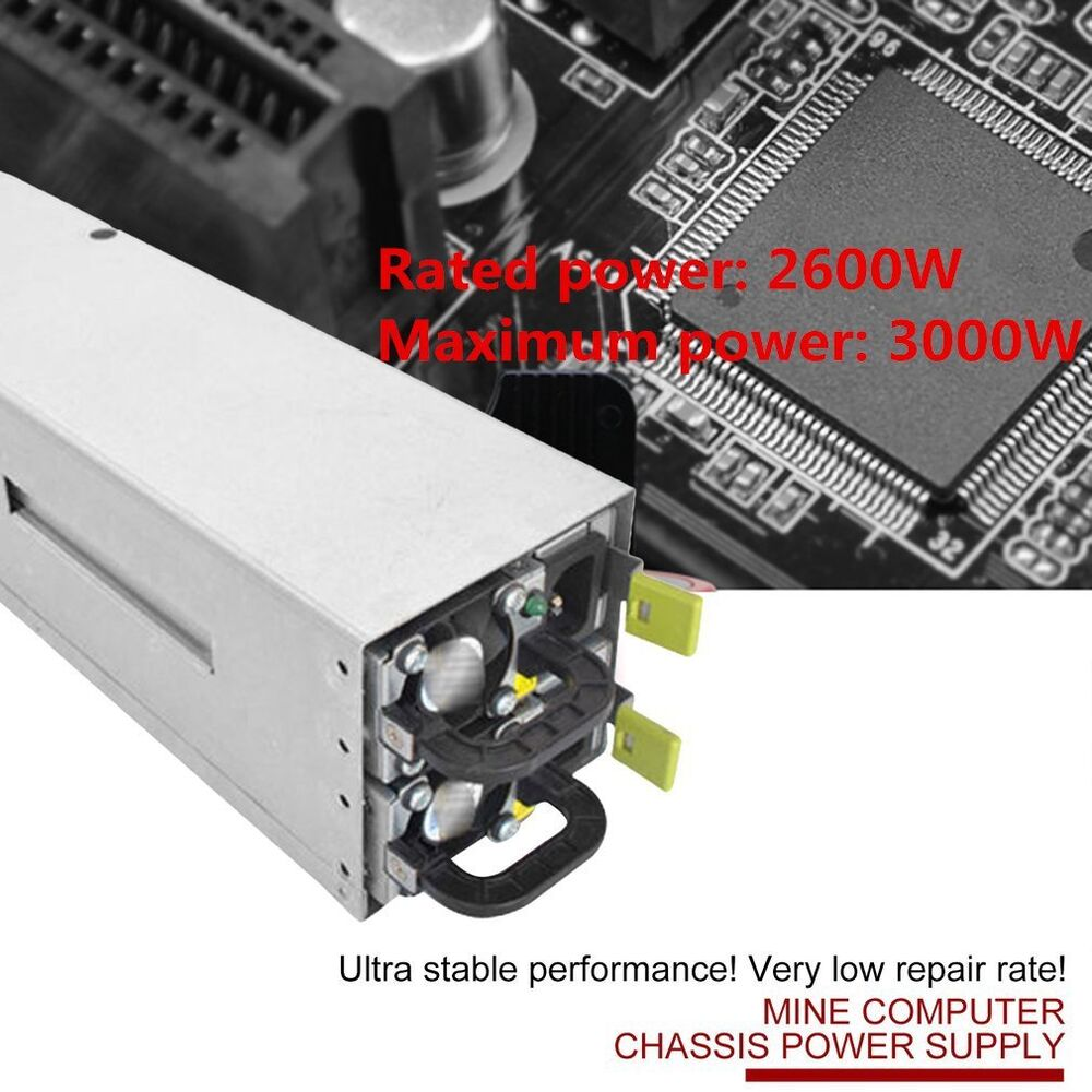 2600W Switching Power Supply 94% Efficiency For GPU Open Rig Mining ...