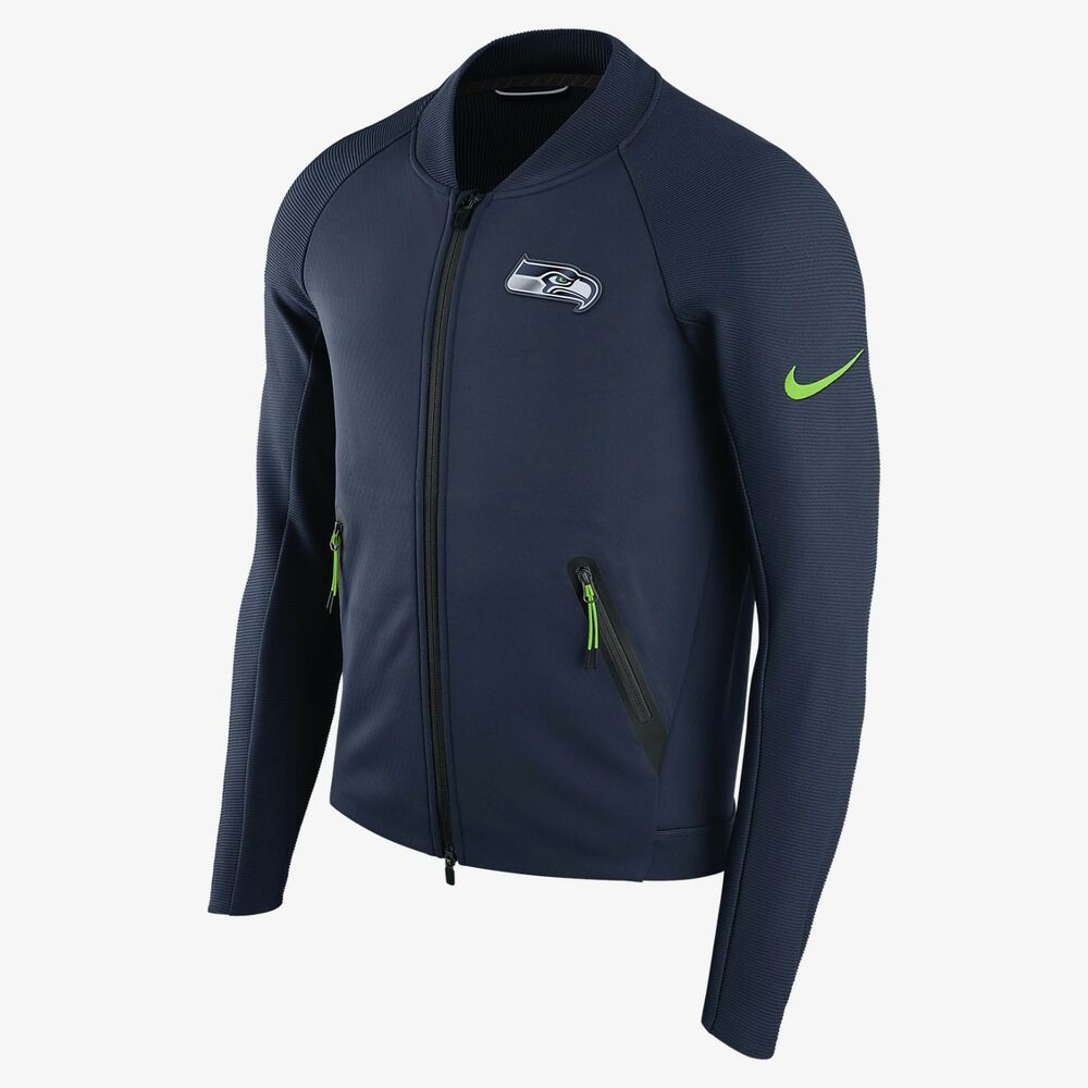 2bb297ff1 Details about mens S M XL niKe seattle Seahawks coaches sideline therma zip  jacket 180