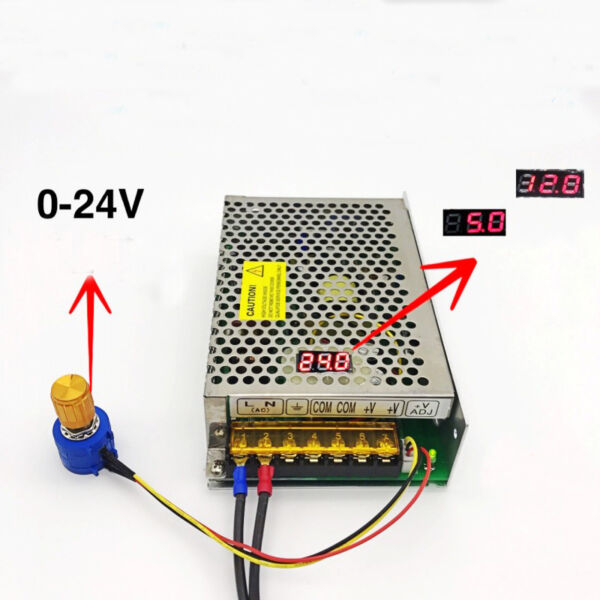 DC 0-24V 4A Digital Display Voltage Adjustable Switching Power Supply