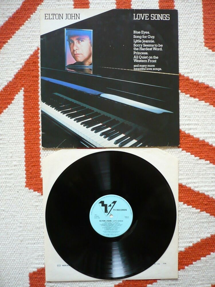 Elton John Love Songs UK 1982 TV Records 1st Press A1/B1 Matrix LP | eBay