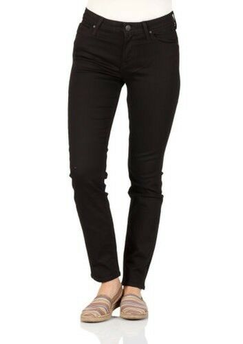 ae2155839f Details about Lee Women s Jeans Elly - Slim Fit - Black - Black Rinse