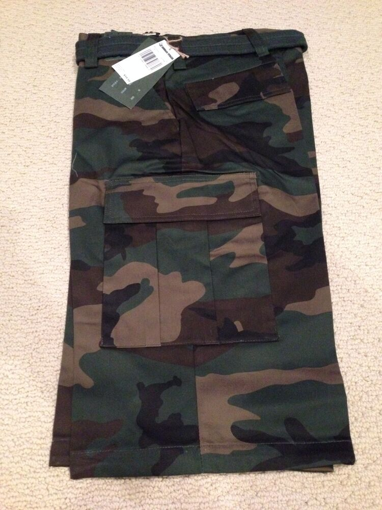 9e6ecc75e3 Details about NWT Men's Regal Wear Classic Green Camouflage Camo Belted  Cargo Shorts BIG SIZES