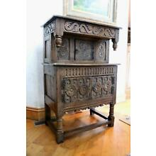 Antique Sideboard Credenza Court Cupboard 18th Century George III Carved Oak