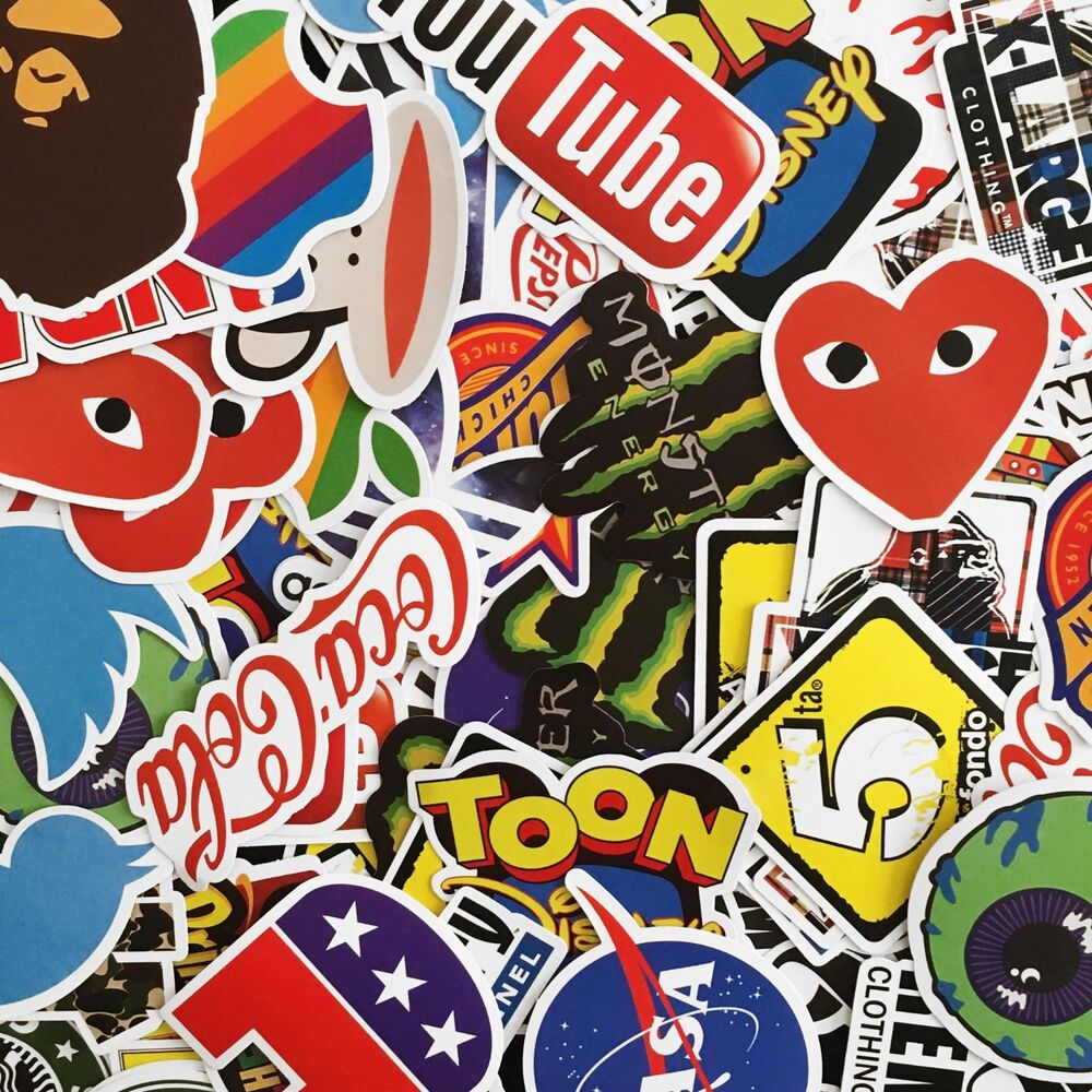 Details about matte finish brand stickers singles bundles tech skate clothing 40