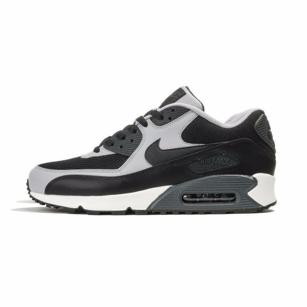 low priced b9a43 39e39 Details about New Men s Nike Air Max 90 Essential Shoes (537384-053) Black Wolf  Grey-Anthracit