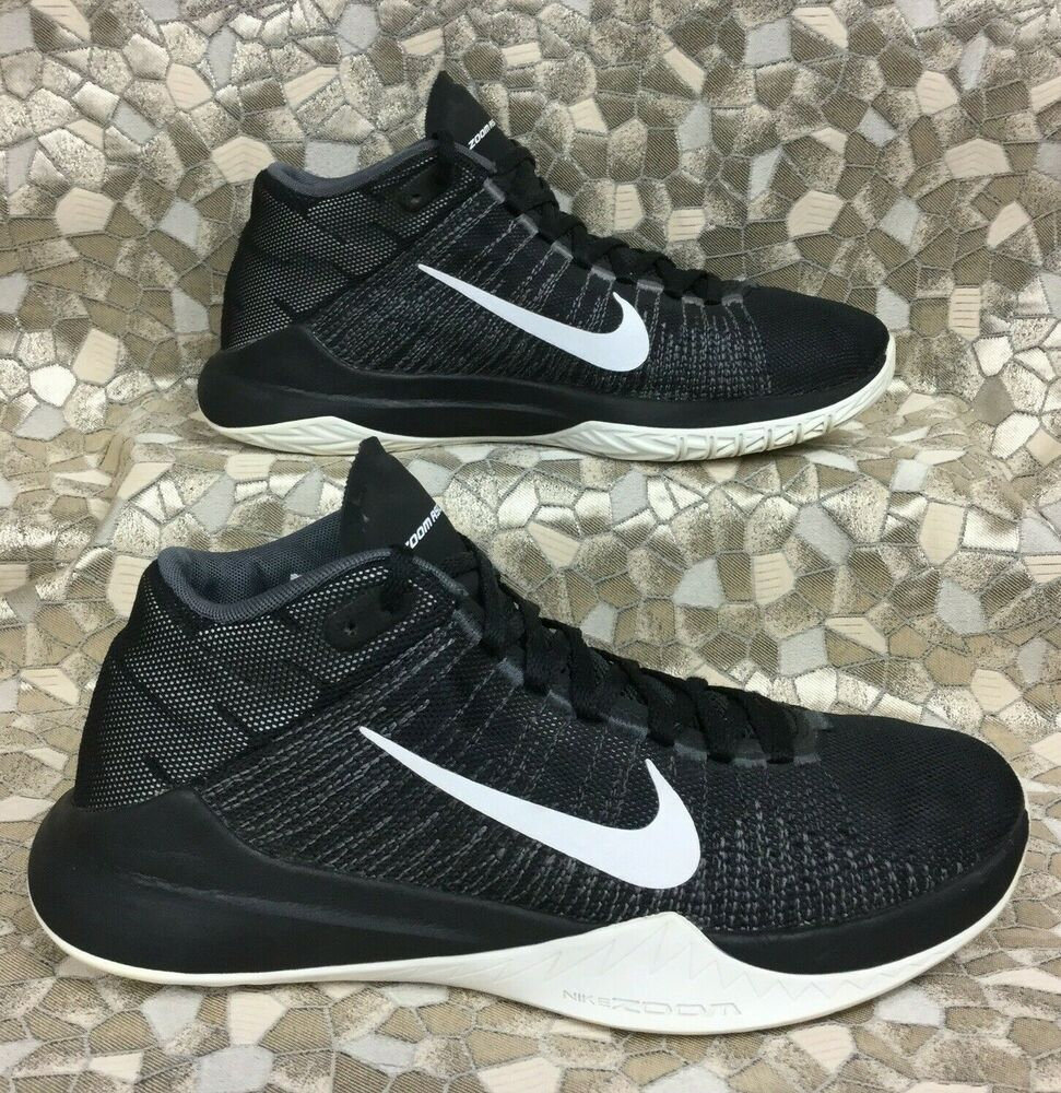 big sale e9433 3ed9a Details about NIKE ZOOM AIR ASCENTION Black   White-Anthracite-Dark Grey  832234-001 men s 7